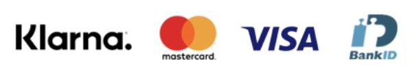 Klara, Mastercard, VISA, Bankid